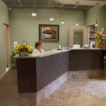 Reception Desk at Doonsouth Kitchener Dental Office