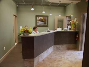 Reception Desk at Doonsouth Kitchener Dental Office