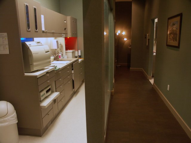 Hallway and Sterilization Area